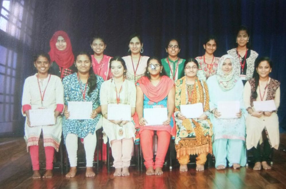 Consistent Attendance and Merit Awards to the 2014-18 batch students